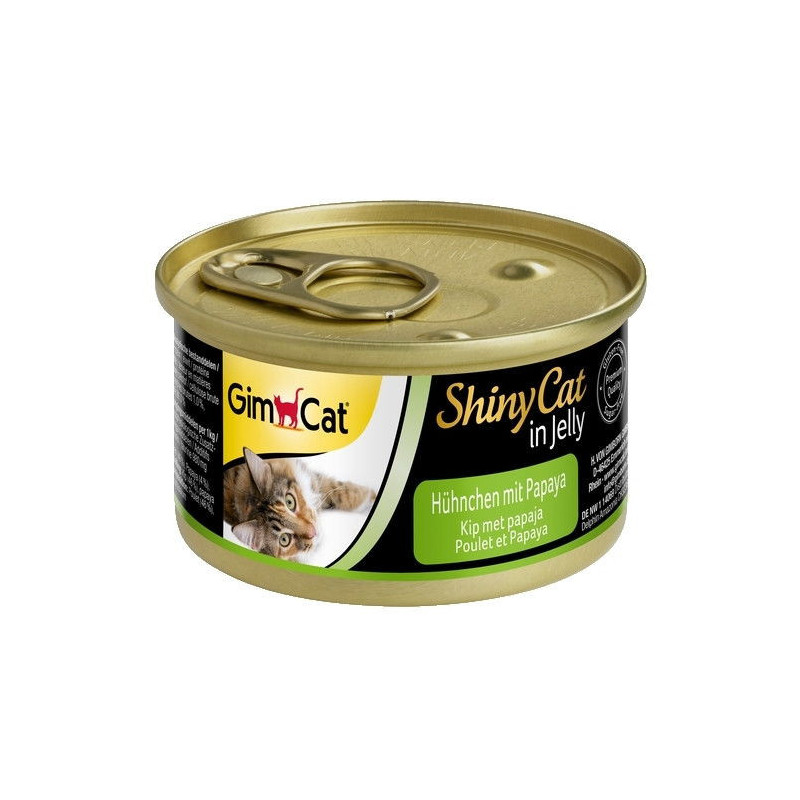 GimpСаt (ДжимКэт) ShinyCat - Консервированный корм с курицей и папайей для кошек