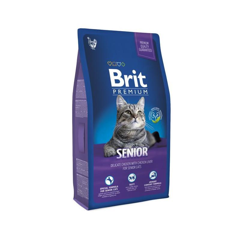 Brit Premium (Брит Премиум) Cat Senior - Сухой корм с курицей для пожилых кошек