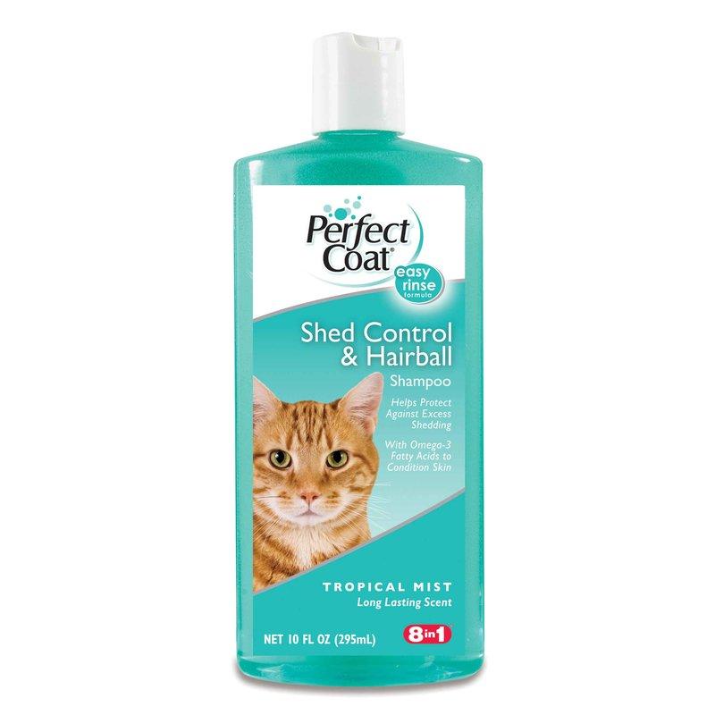 Perfect Coat (Перфект Коат) by 8in1 Shed and Hairball Control Shampoo for Cats. Шампунь для кошек для регуляции линьки