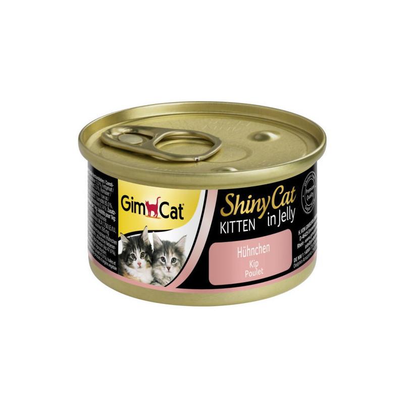 GimCat (ДжимКэт) ShinyCat Kitten - Консервированный корм с курицей для котят