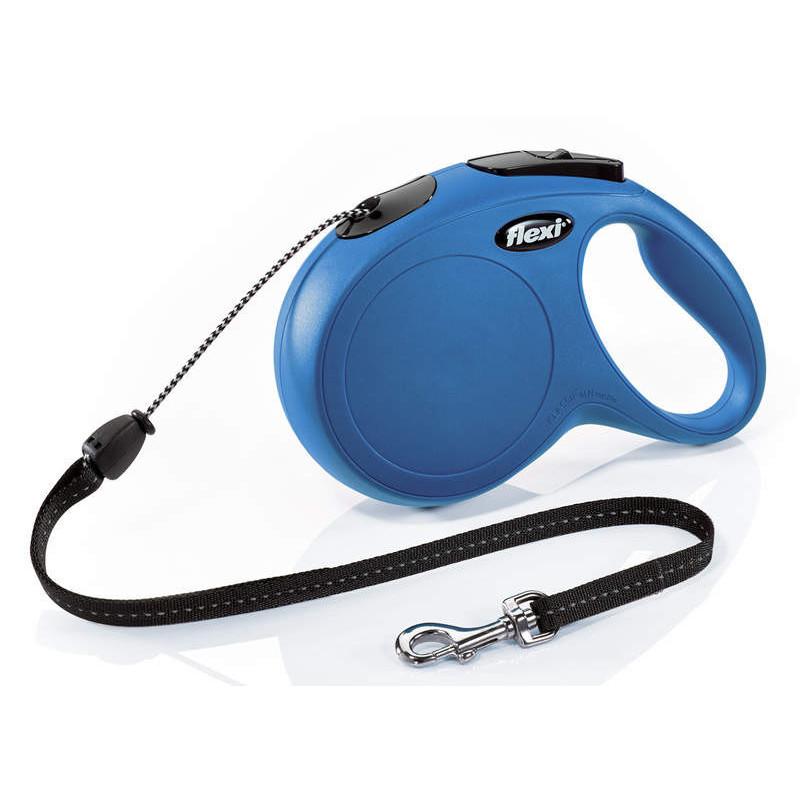 Flexi (Флекси) New Classic M - Поводок-рулетка для собак средних пород, трос (8 м, до 20 кг)