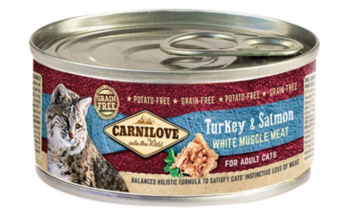 Влажный корм Carnilove (Карнилав) Cat Turkey & Salmon с индейкой и лососем