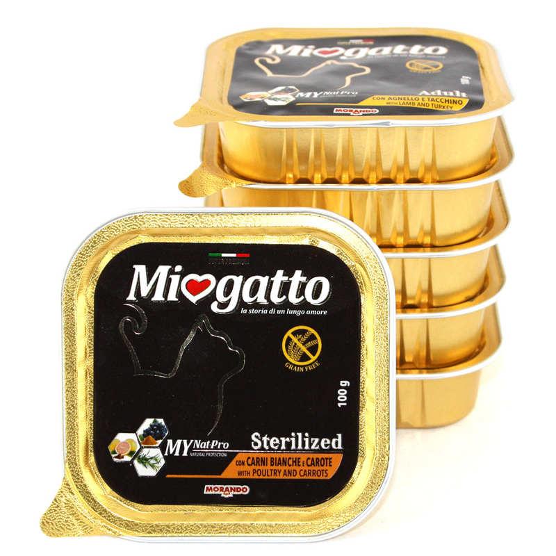 Morando (Морандо) Miogatto Sterilized Pultry and Carrots. Влажный корм с птицей и морковью для стерилизованных котов