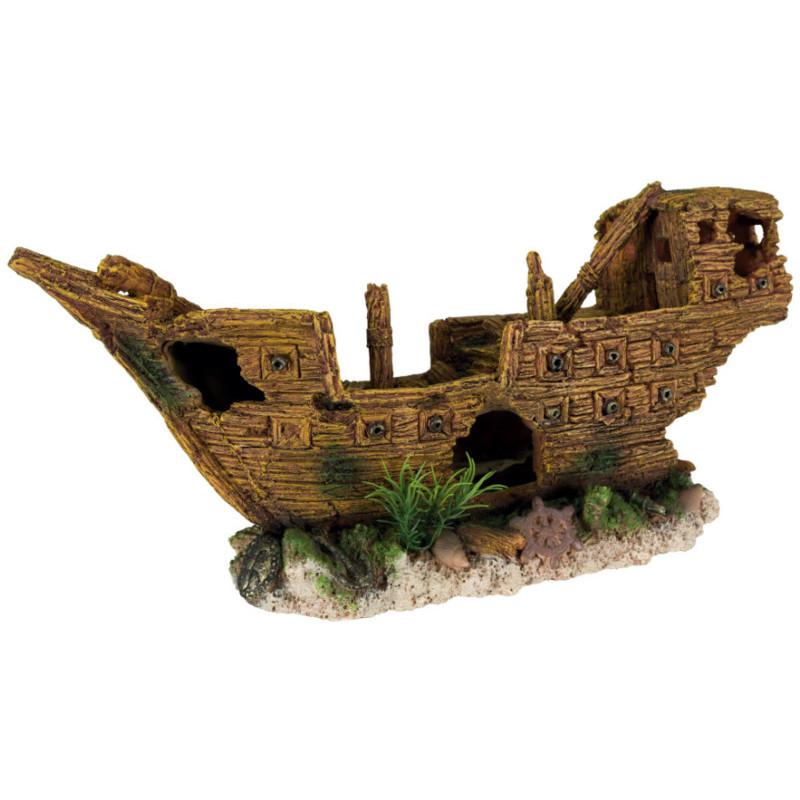 Trixie (Трикси) Decoration Shipwreck - Затонувший корабль для декора аквариума, 36 см