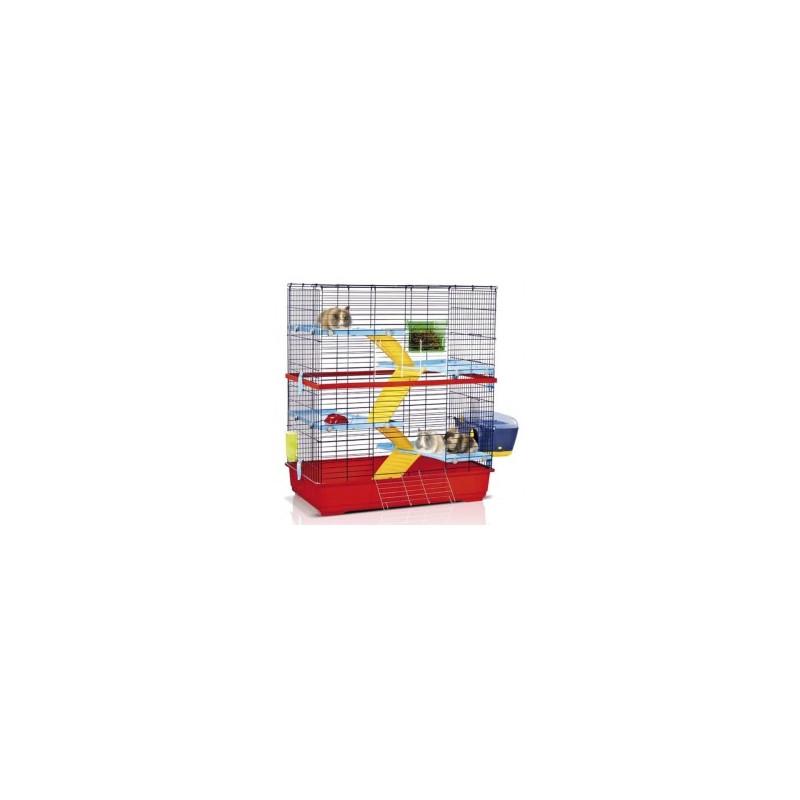 Imac Double 100 АЙМАК ДАБЛ 100 клетка для грызунов 4-х ярусная, пластик