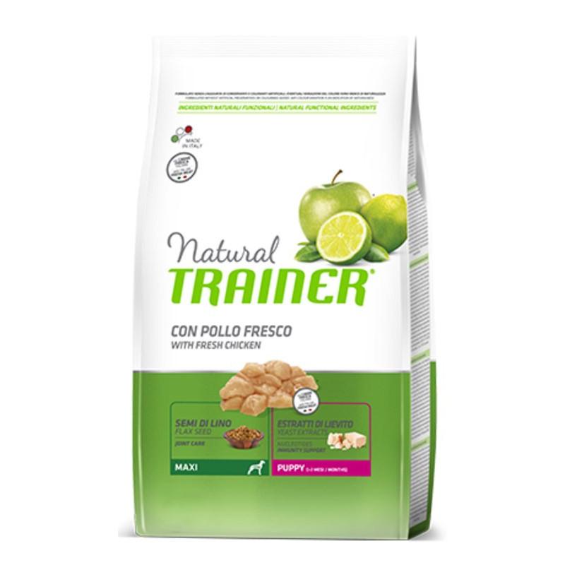 Trainer (Трейнер) Natural Puppy Maxi. Сухой корм с курицей и индейкой для щенков крупных пород