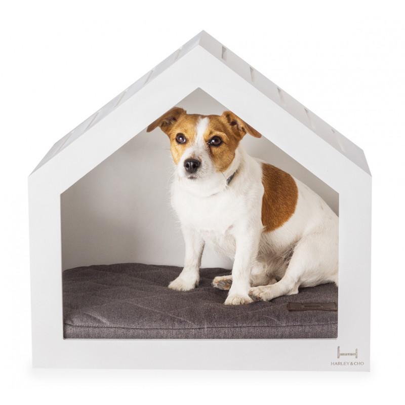 HARLEY & CHO (Харли энд Чо) White Shelter - Домик- будка (белое дерево) для собак
