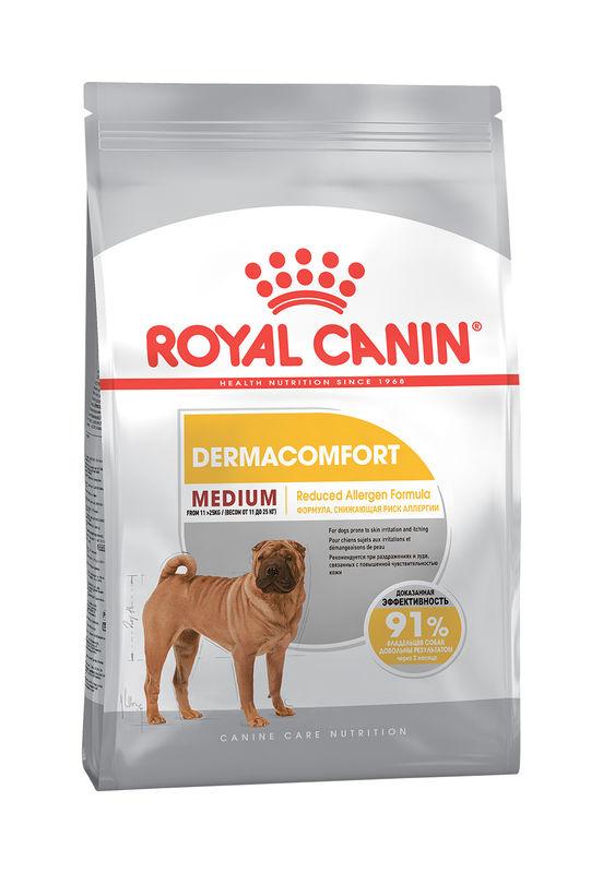 Royal Canin (Роял Канин) Medium Dermacomfort - Сухой корм для собак средних пород с чувствительной кожей