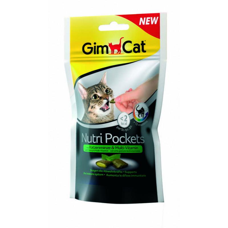 GimCat Nutri Pockets Подушечки с кошачьей мятой и мультивитаминами для котов