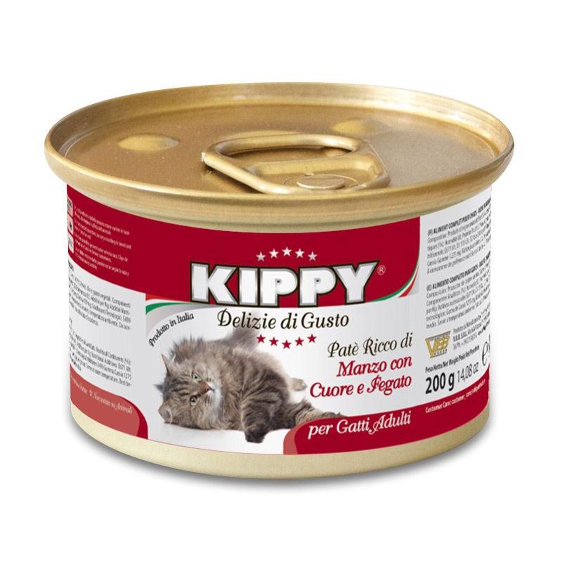 Kippy (Киппи) Cat - Консервы с говядиной, сердцеми печенью для кошек