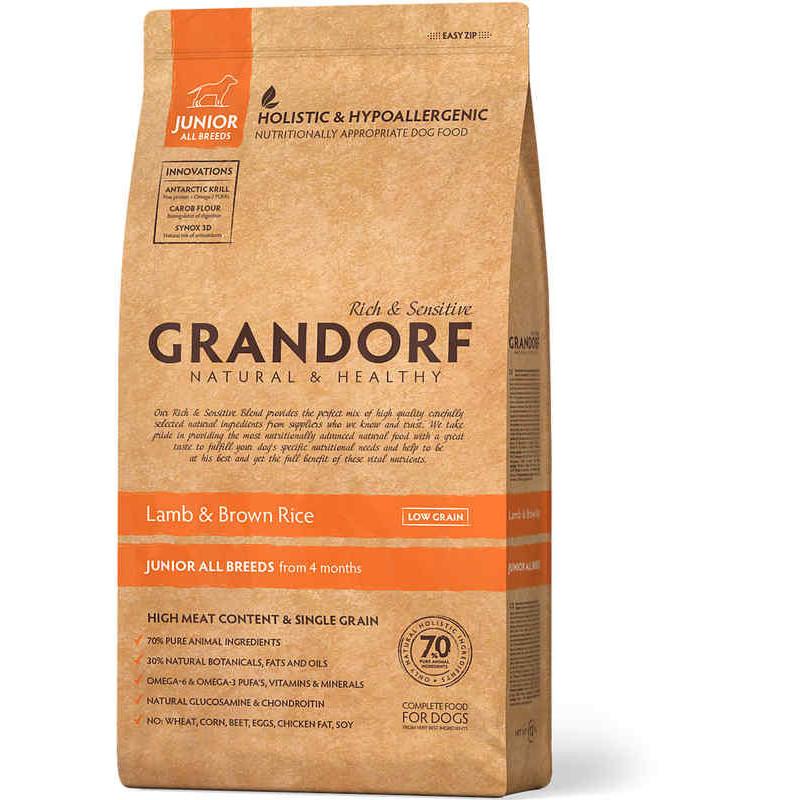 Grandorf (Грандорф) Holistic Lamb&Brown Rice Junior -для юниоров ЯГНЕНОК С РИСОМ