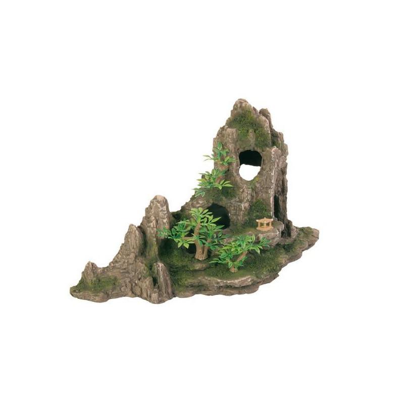 Скала  TRIXIE для декора аквариума с растениями и пещерой
