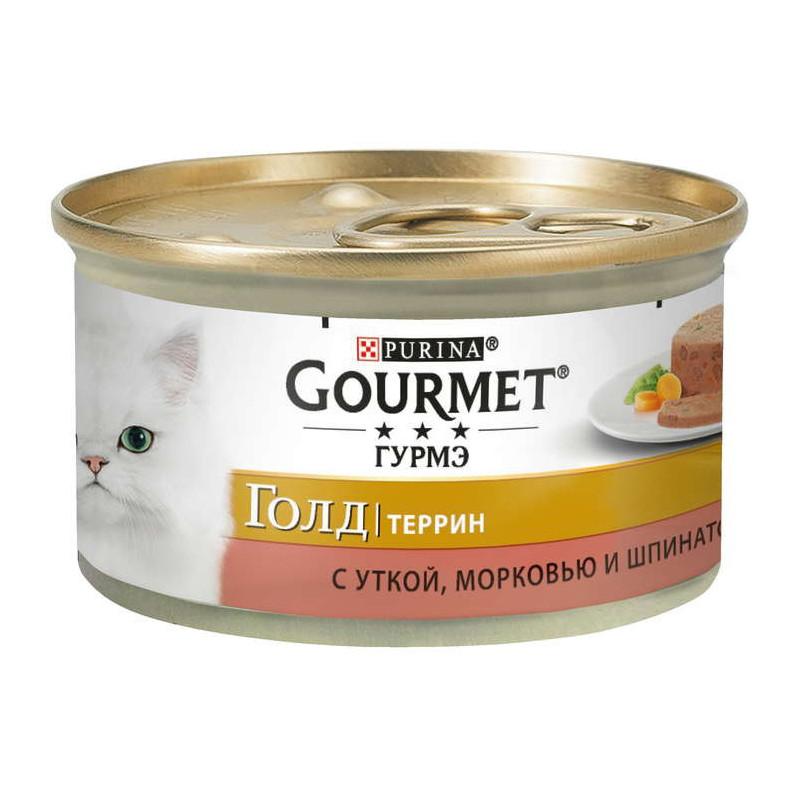 Gourmet Gold (Гурмэ Голд) - Консервированный корм паштет с уткой, морквью и шпинатом для взрослых кошек