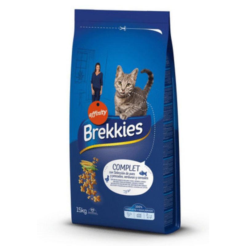 Brekkies (Брекис) Cat Complet Сухой корм для взрослых кошек с мясом, рыбой и овощами