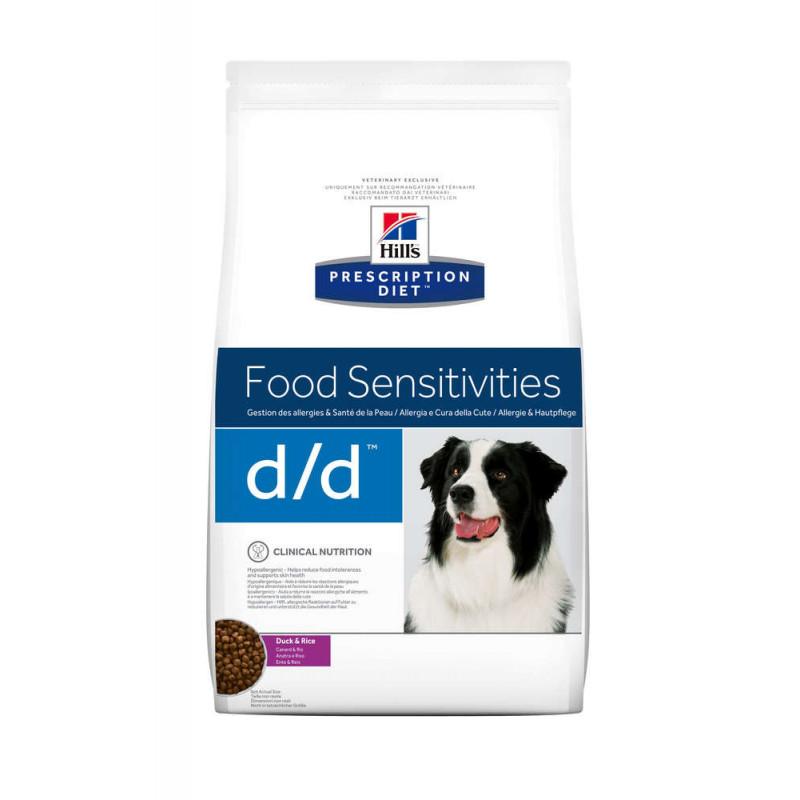 Hill's (Хиллс) Prescription Diet d/d Food Sensitivities - Корм-диета для собак с уткой и рисом ЧУВСТВИТЕЛЬНОЕ ПИЩЕВАРЕНИЕ