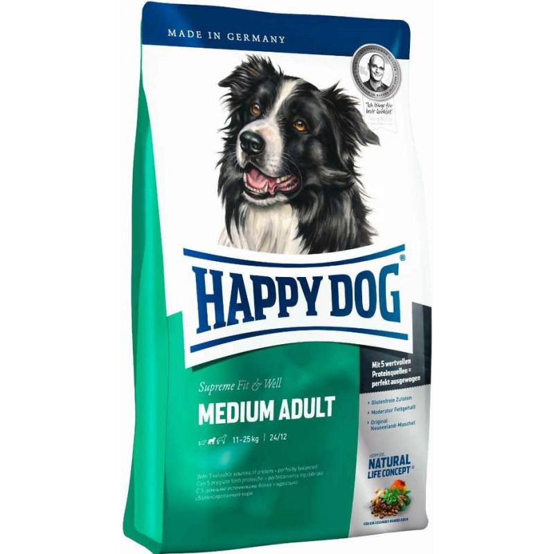 Happy Dog Supreme Fit&Wel Medium Adult Сухой корм для взрослых собак средних пород с нормальной активностью