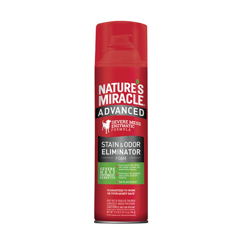 Nature's Miracle (Нейчерс Миракл) Stain&Odor Eliminator Foam - уничтожитель пятен и запахов собак с усиленной формулой