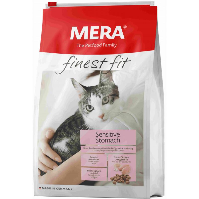 Mera (Мера) Finest fit Sensitive Stomach - Сухой корм с индейкой и лососем для чувствительных к питанию кошек