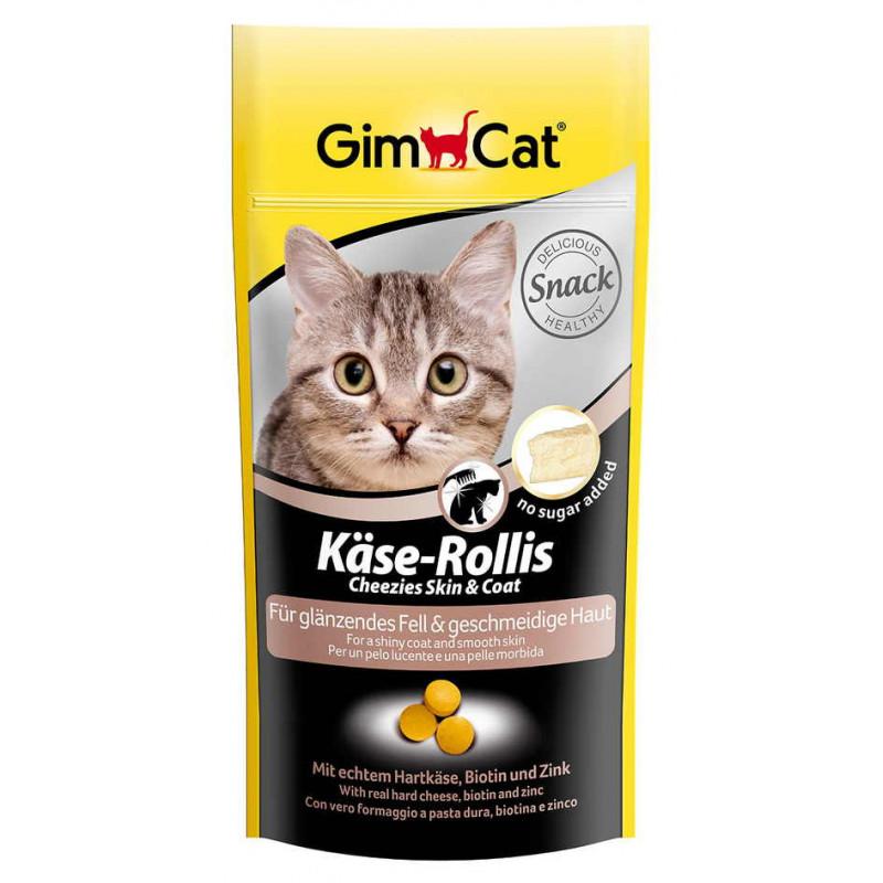 Gimpet Kase-Rollis Таблетки сырные для здоровой кожи и красивой шерсти у кошек
