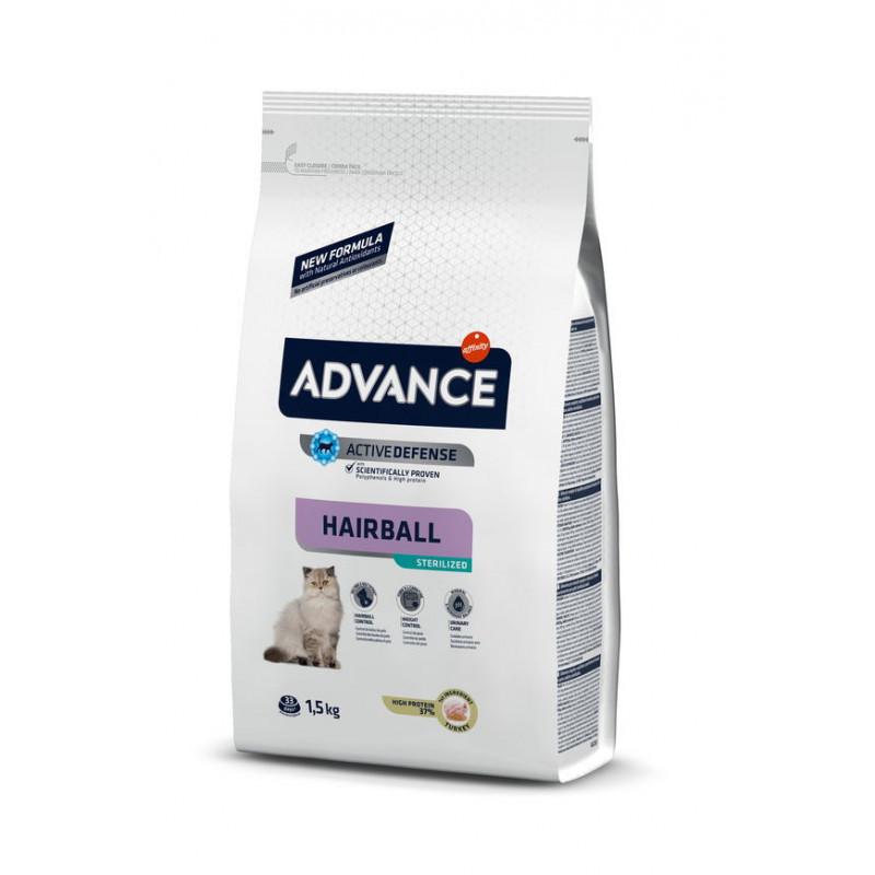 Advance (Эдвансе) Cat Sterilized Hairball Корм для стерилизованных котов, способствующий выведению комочков шерсти
