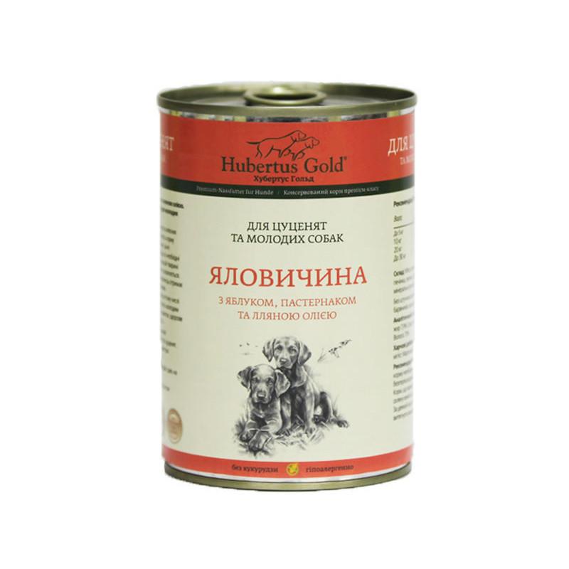 Hubertus Gold (Хубертус Гольд) Говядина с Яблоком и Пастернаком корм для щенков и молодых собак