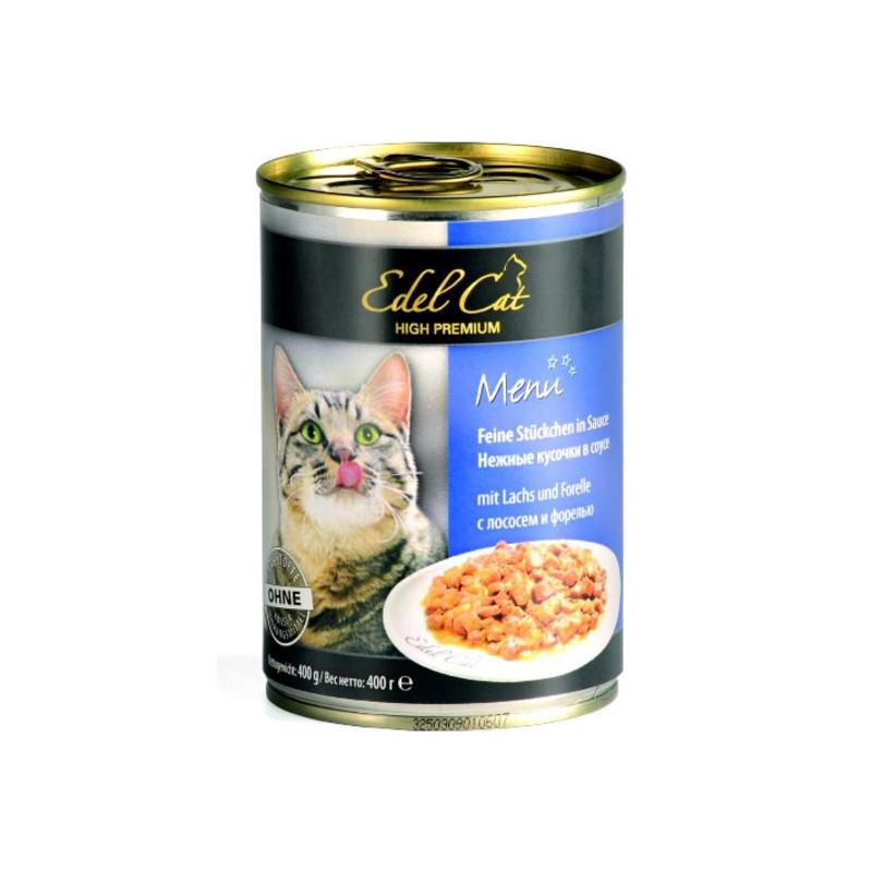 Edel (Едел) Cat Menu - Консервированный корм с лососем и форелью для кошек