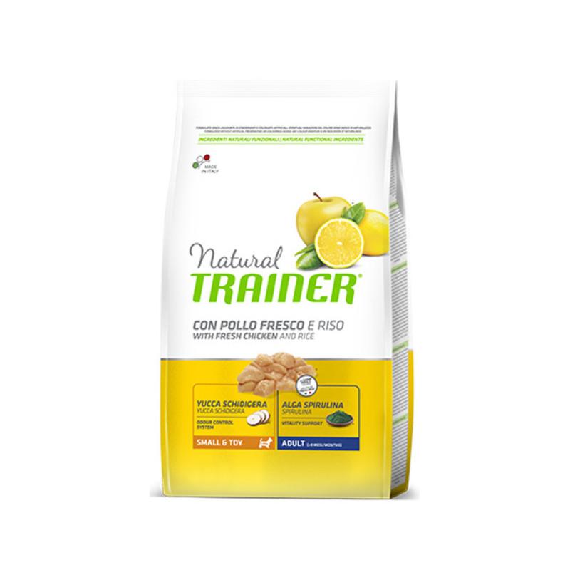 Trainer (Трейнер) Natural Adult Mini Con Pollo Fresco Корм для взрослых собак мини пород с курицей, рисом и алоэ вера