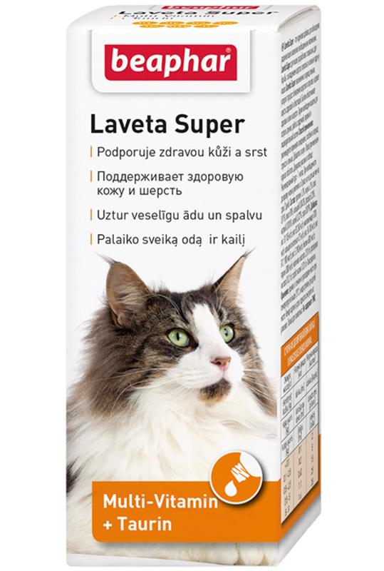 Beaphar (Биафар) Laveta Super - Жидкая витаминная добавка для котов при проблемах с шерстью