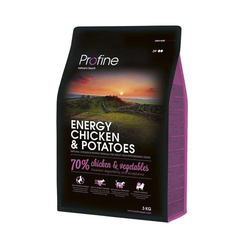 Profine (Профайн) Energy Chicken&Potatoes - Сухой корм для собак с повышенной активностью с курицей и картофелем