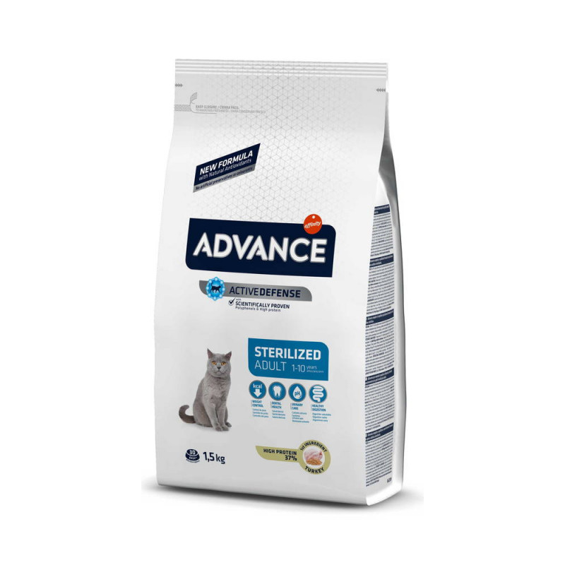Advance (Эдванс) Cat Sterilized Adult Корм для стерилизованных кошек с индейкой