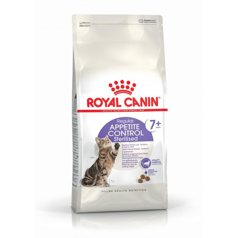 Royal Canin Sterilised 7+ Appetite Control для стерилизованных кошек старше 7 лет для контроля аппетита.