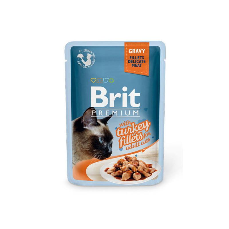 Brit Premium (Брит Премиум) Cat Turkey fillets in Gravy - Влажный корм с кусочками из филе индейки в соусе для кошек