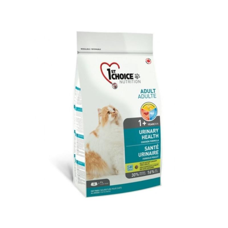 "1st Choice (Фест Чойс) Urinary Health. Сухой корм с курицей для котов ""Уринари Хелс"" склонных к мочекаменной болезни"