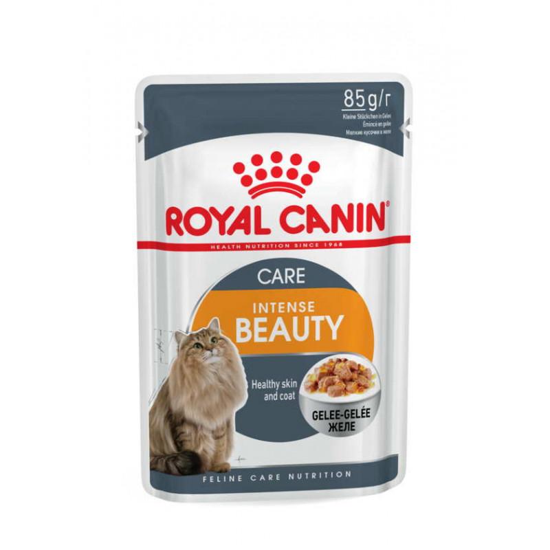 Royal Canin (Роял Канин) Intense Beauty - Консервированный корм для кошек для поддержания красоты шерсти (кусочки в желе)