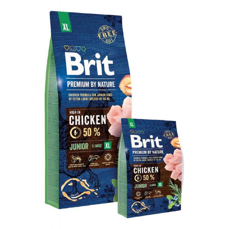 Корм Brit Premium  by Nature (Брит Премиум) JUNIOR XL для щенков и молодых собак гигантских пород