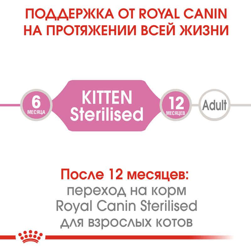 Royal Canin (Роял Канин) Kitten Sterilised - Сухой корм с птицей для котят после стерилизации - Фото 8