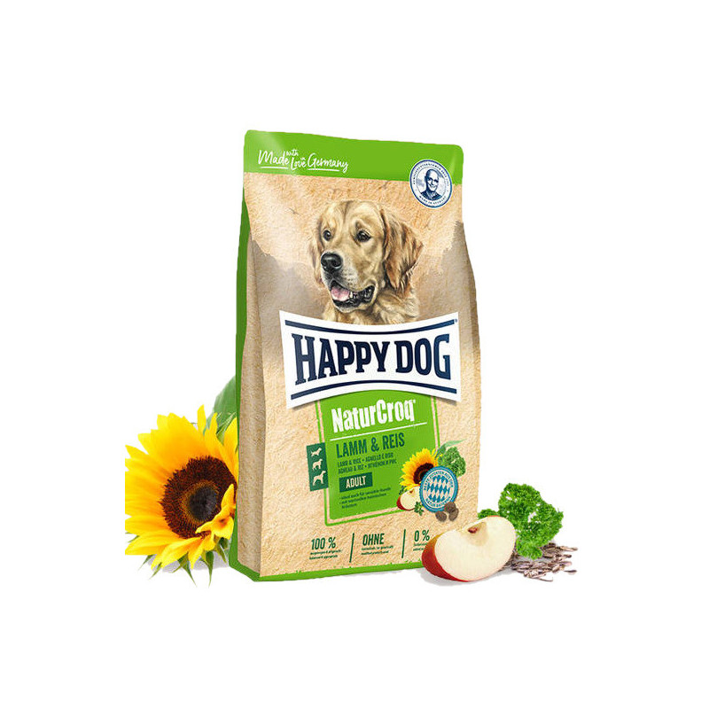 Happy Dog (Хеппи Дог) NaturCroq Lamm&Reis - Сухой корм для взрослых собак с ягненком и рисом