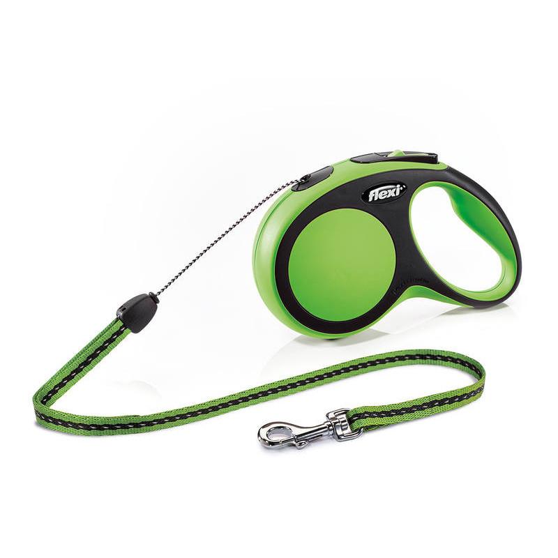 Flexi (Флекси) New Comfort Long S - Поводок-рулетка для собак мелких пород, длинный трос (8 м, до 12 кг)