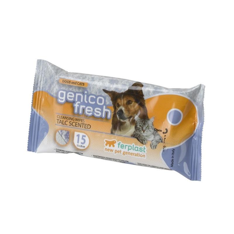 Ferplast (Ферпласт) Genico Fresh Talc - Салфетки очищающие влажные для котов и собак