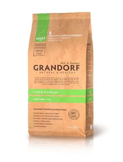 Grandorf (Грандорф) Holistic Lamb & Brown Rice Mini - для мини пород ЯГНЕНОК С РИСОМ