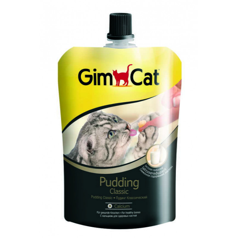 GimСat (ДжимКэт) Pudding. Лакомство - пудинг со сниженным содержанием лактозы для кошек