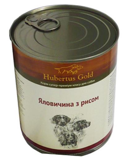 """Hubertus Gold (Хьюбертус Голд) Консервированный корм """" Говядина с рисом"""" для активных собак - Фото 2"""