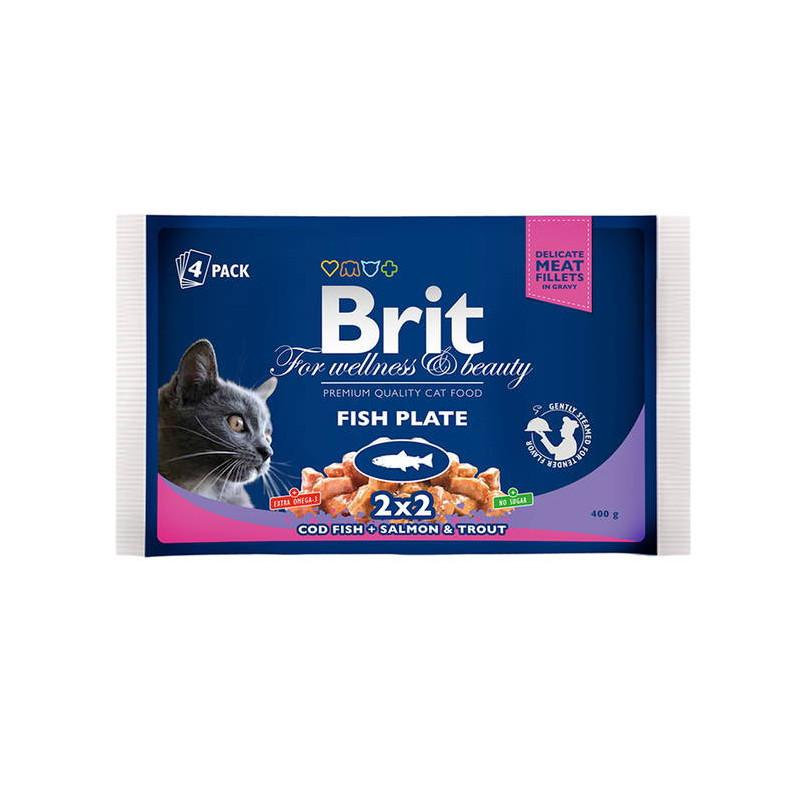 Brit Premium (Брит Премиум) Cat Fiah Plate - Набор паучей