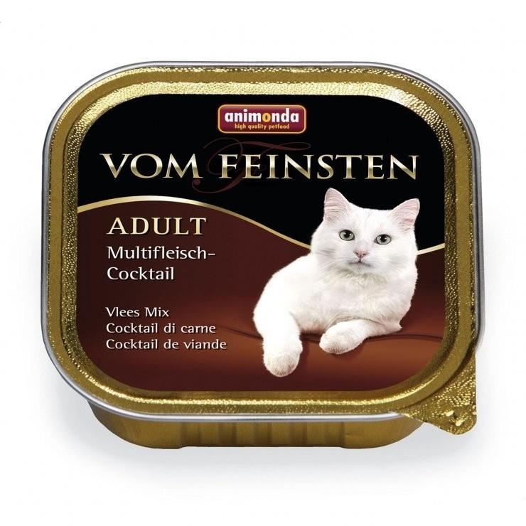 Animonda (Анимонда)Vom Feinsten Adult Multifleisch-Coctail - Консервированный корм в виде паштета с мясным мультикоктейлем для взрослых кошек