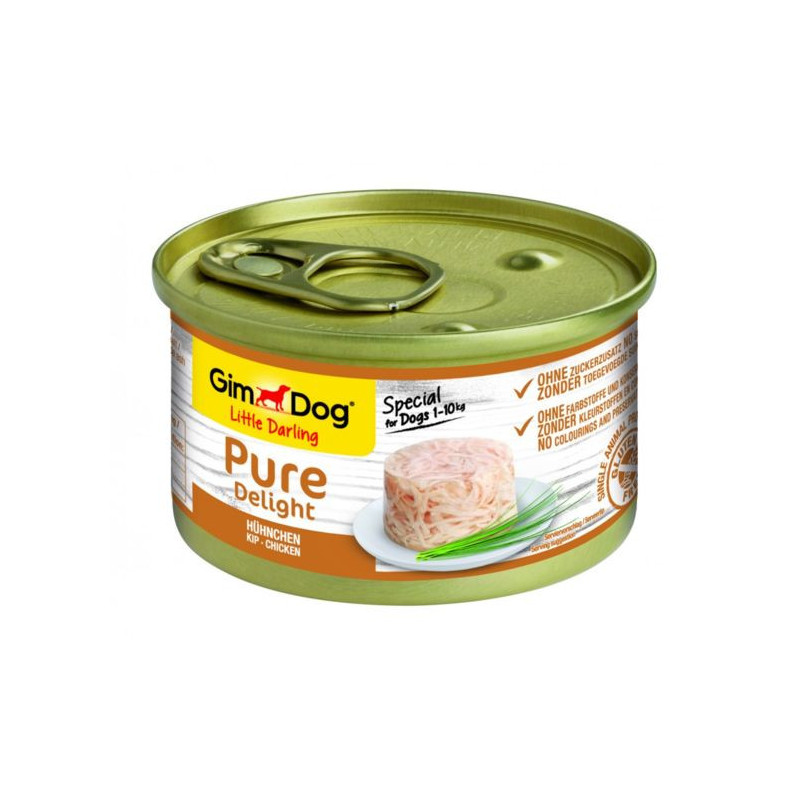 GimDog LITTLE DARLINGD Pure Delight Консервы для собак с курицей