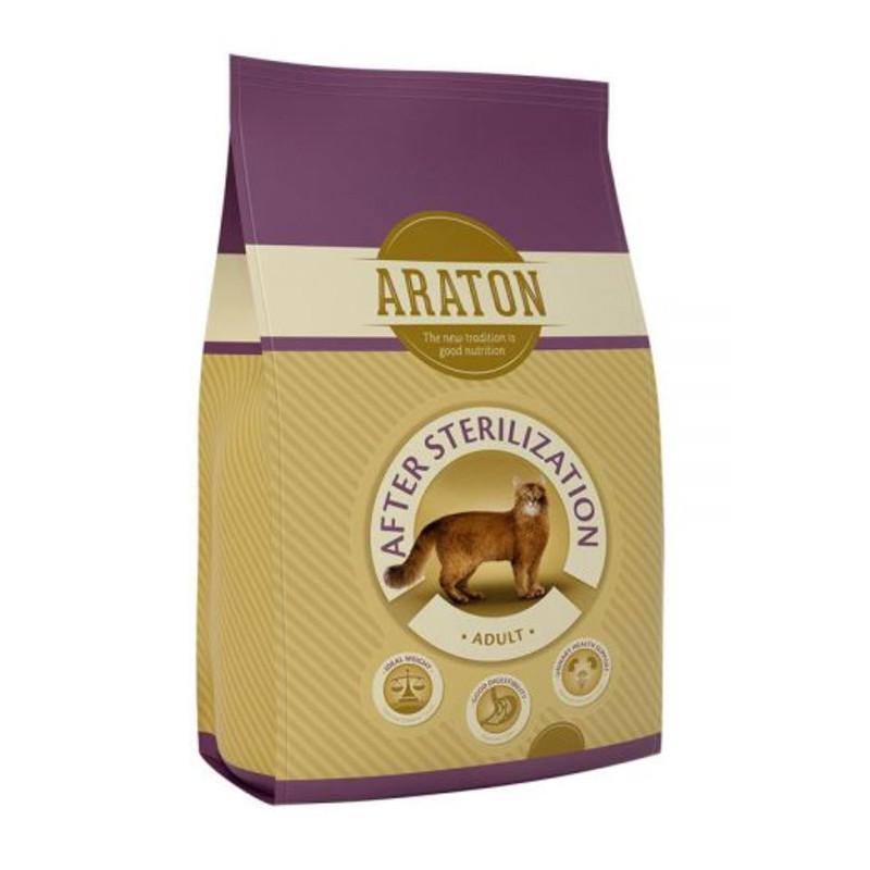 Araton (Аратон) Adult After Sterilization - Сухой корм с птицей и кукурудзой для стерилизованных и склонных к полноте взрослых кошек