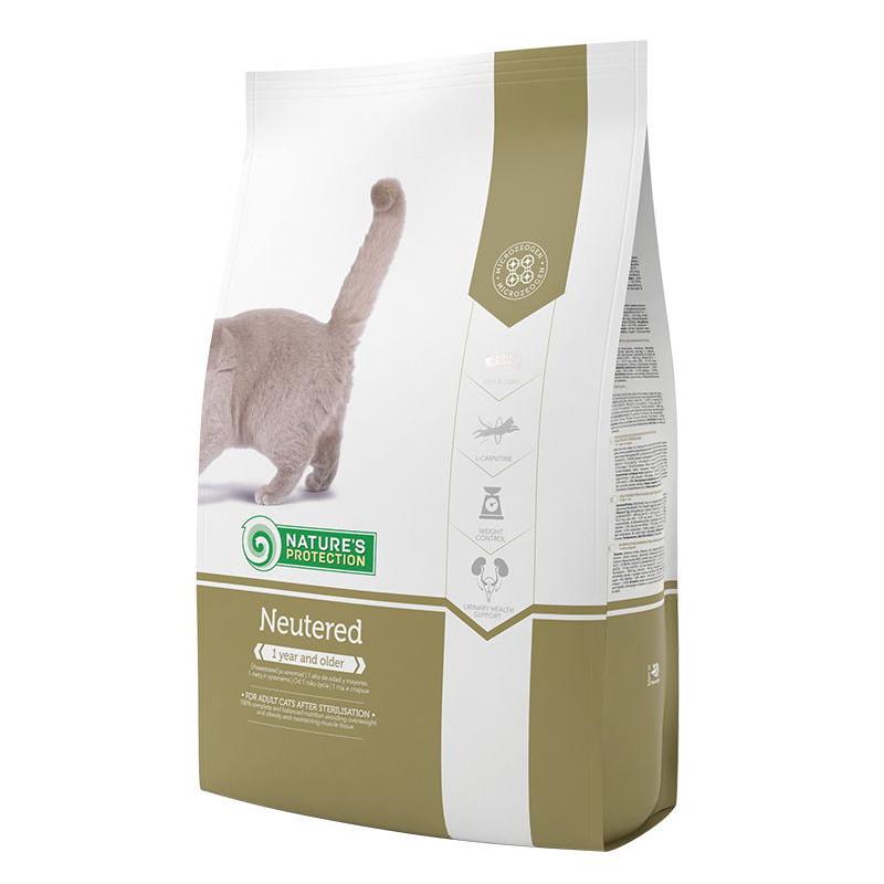 Nature's Protection (Нейчерес Протекшн) Neutered. Сухой корм с птицей для котов и кошек после стерилизации