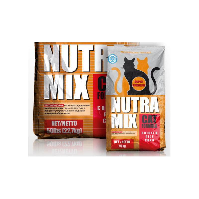 Nutra Mix (Нутра Микс) Professional Cat Formula - Сухой корм с курицей и рисом для взрослых активных кошек