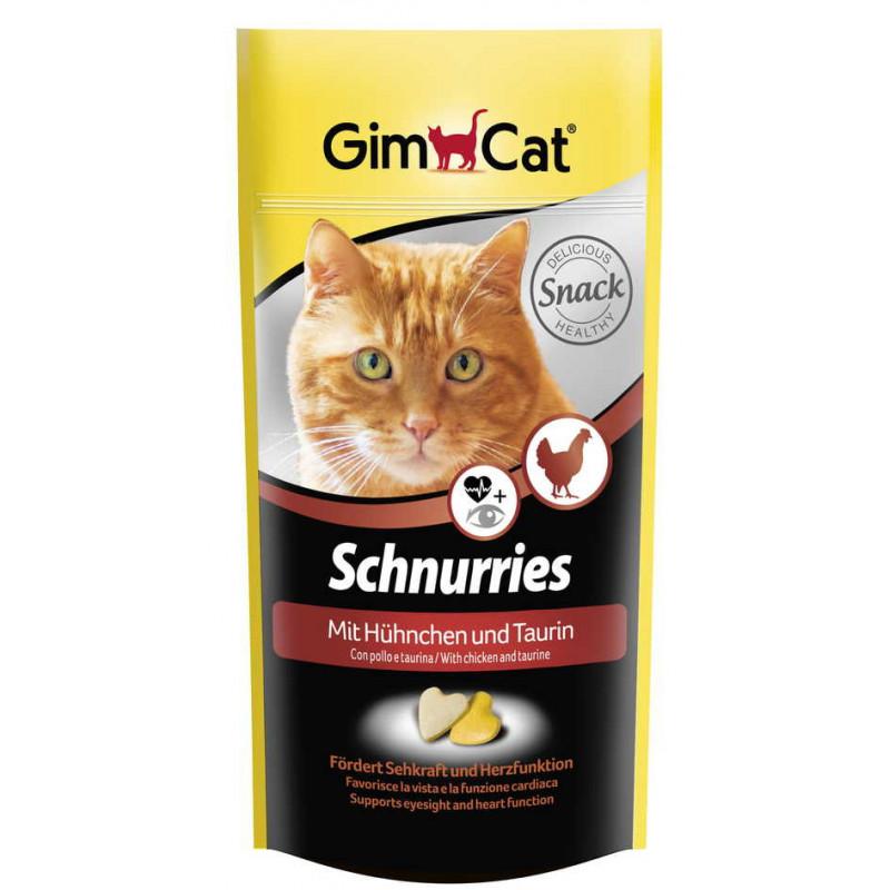 Gimcat (ДжимКэт) Schnurries - Витаминные сердечки для кошек с таурином и курицей