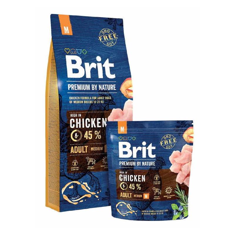 Brit Premium (Брит Премиум) by Nature ADULT M - Сухой корм с курицей для взрослых собак средних пород